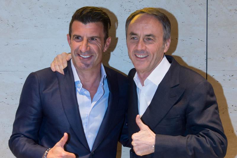 Luís  Figo y Nerio Alessandri