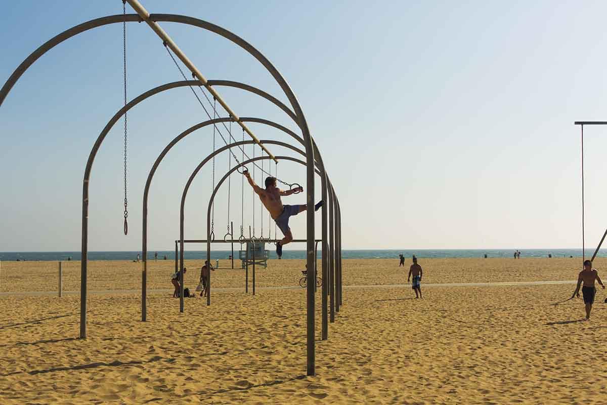 Muscle Beach Gymnastics