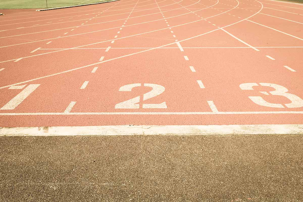 Running track number vintage background