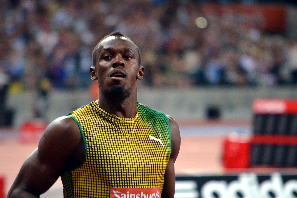Usain Bolt end of race